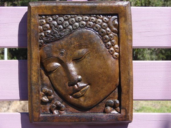 Buddha Face Plaque (Square) (click to enlarge)